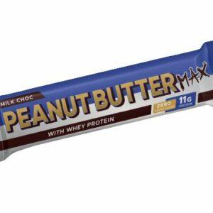 PB Max Peanut Butter Bars (Zero Sugar) Whey with Milk Choc (Box of 30)